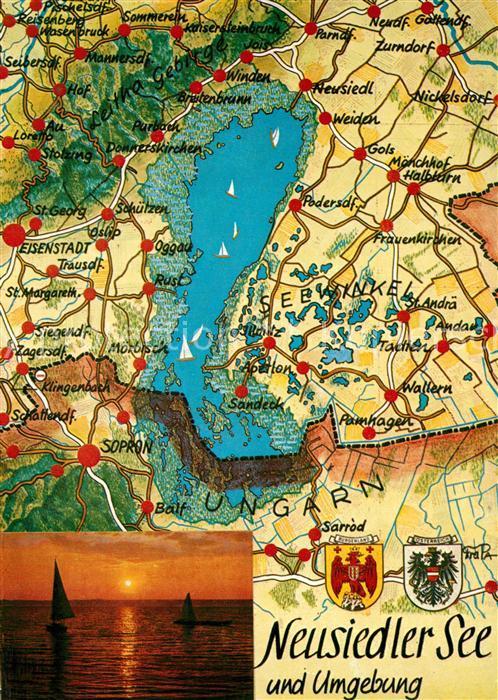 AK / Ansichtskarte Neusiedl_See Panoramakarte Neusiedl See
