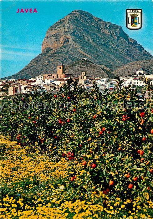 AK / Ansichtskarte Javea Pueblo y naranjos Javea