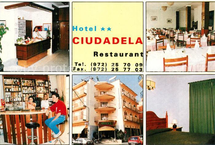 AK / Ansichtskarte Roses_Costa_Brava Hotel Diudadela Rezeption Bar Gastraeume Roses_Costa_Brava