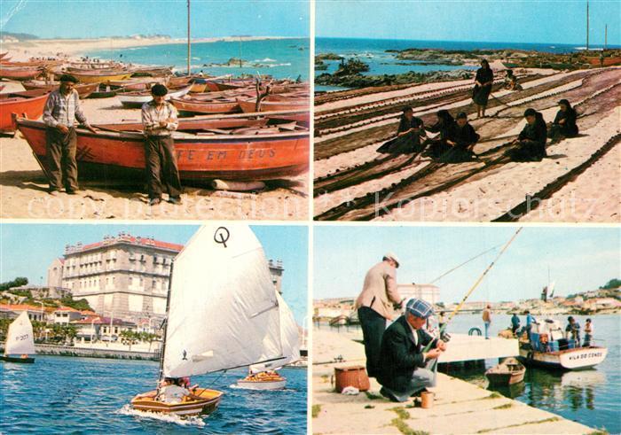 AK / Ansichtskarte Vila_do_Conde Petit Port de Caxinas et Sports Nautiques Vila_do_Conde