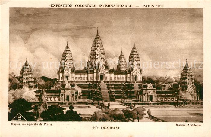 AK / Ansichtskarte Paris Exposition Coloniale Internationale Angkor Wat Paris 0