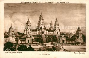 AK / Ansichtskarte Paris Exposition Coloniale Internationale Angkor Wat Paris
