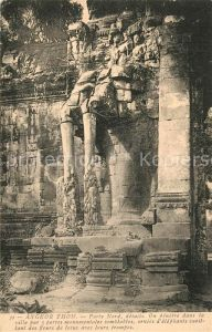 AK / Ansichtskarte Angkor Thom Porte Nord details ruines Angkor Thom