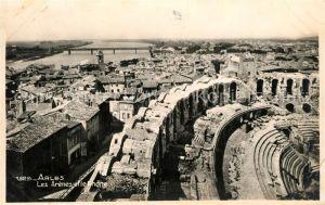 AK / Ansichtskarte Arles_Bouches du Rhone Les Arenes et le Rhone Arles_Bouches du Rhone
