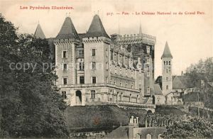 AK / Ansichtskarte Pau Chateau National vu du Grand Parc Pau