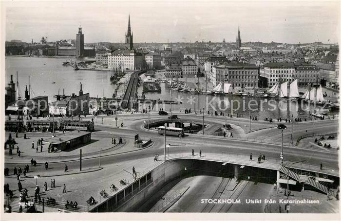 AK / Ansichtskarte Stockholm Utsikt fran Katarinahissen Stockholm