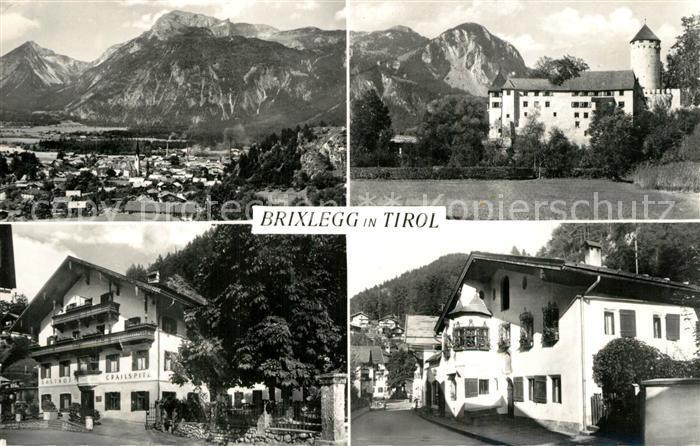 AK / Ansichtskarte Brixlegg_Tirol Gesamtansicht mit Alpenpanorama Schloss Hotels Brixlegg_Tirol