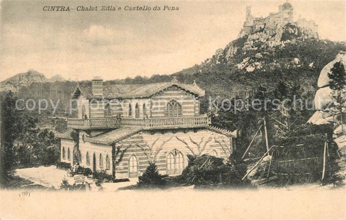 AK / Ansichtskarte Cintra Chalet Edla e Castello da Pena Cintra