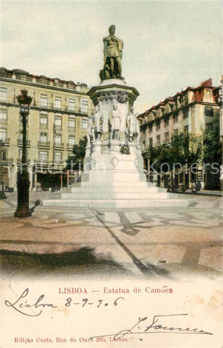 AK / Ansichtskarte Lisboa Estatua de Camoes Denkmal Lisboa