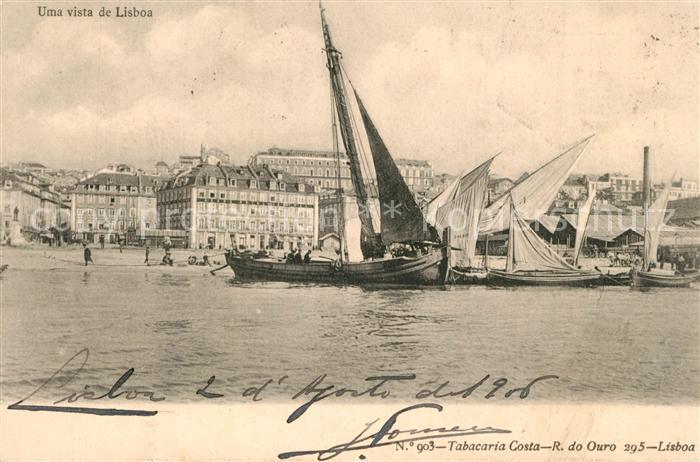 AK / Ansichtskarte Lisboa Hafen Segelschiffe Lisboa