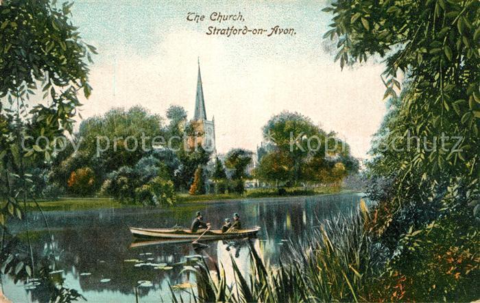 AK / Ansichtskarte Stratford on Avon On the River Church Stratford on Avon