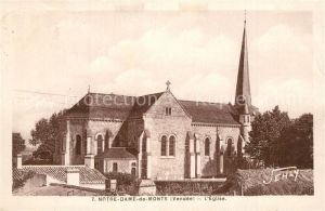 AK / Ansichtskarte Notre Dame de Monts Eglise Notre Dame de Monts