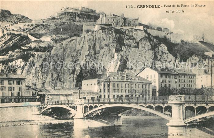 AK / Ansichtskarte Grenoble Pont de la Porte de France Grenoble
