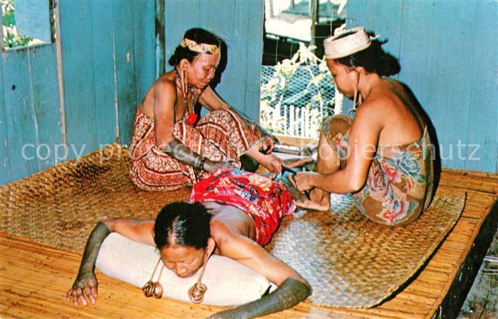 AK / Ansichtskarte Sarawak_Malaysia_Malaya Kayan Girls