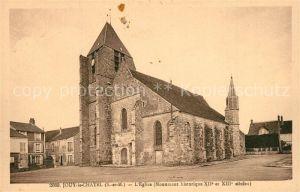 AK / Ansichtskarte Jouy le Chatel Eglise Monument historique XIIe et XIIIe siecles Jouy le Chatel