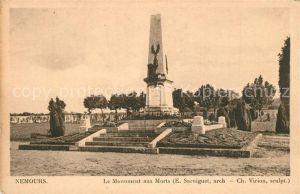 AK / Ansichtskarte Nemours_Seine et Marne Monument aux Morts Kriegerdenkmal Nemours Seine et Marne