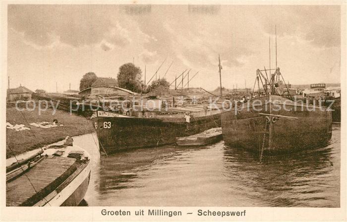 AK / Ansichtskarte Millingen_Rijn Scheepswerf Millingen Rijn
