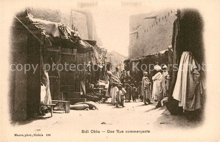 AK / Ansichtskarte Sidi_Okba Une Rue commercante Sidi_Okba
