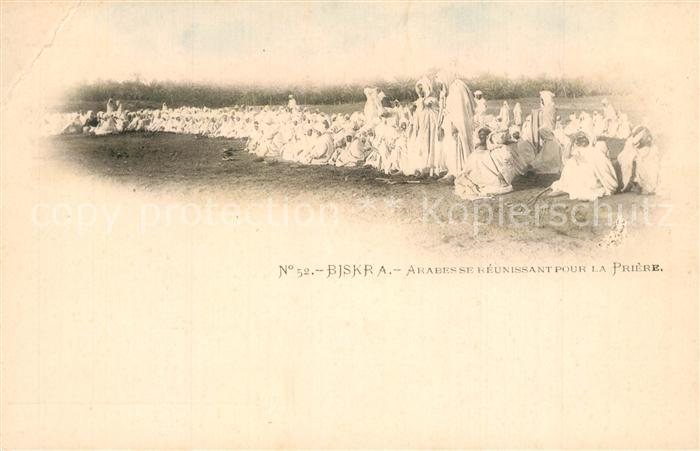 AK / Ansichtskarte Biskra Arabesse Reunssant Pour la Priere Biskra