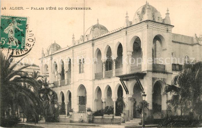 AK / Ansichtskarte Alger_Algerien Palais d Ete du Gouverneur Alger Algerien