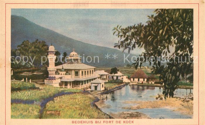 AK / Ansichtskarte Bukittinggi Bedehuis Dij Fort de Kock