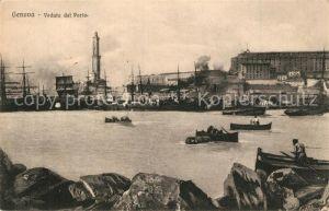 AK / Ansichtskarte Genova_Genua_Liguria Veduta del Porto Genova_Genua_Liguria