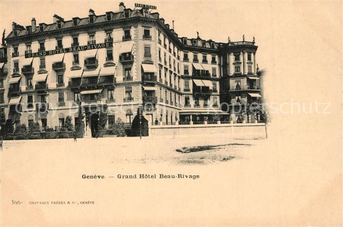 AK / Ansichtskarte Geneve_GE Grand Hotel Beau Rivage Geneve_GE