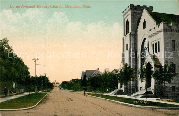 AK / Ansichtskarte Brandon_Manitoba Lorne Ave Baptist Church Brandon Manitoba
