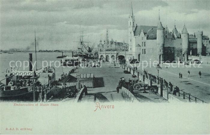 AK / Ansichtskarte Anvers_Antwerpen Embarcadere Musee Steen Anvers Antwerpen