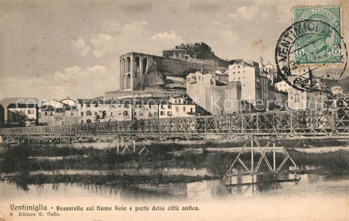AK / Ansichtskarte Ventimiglia_Liguria Passerella sul fiume