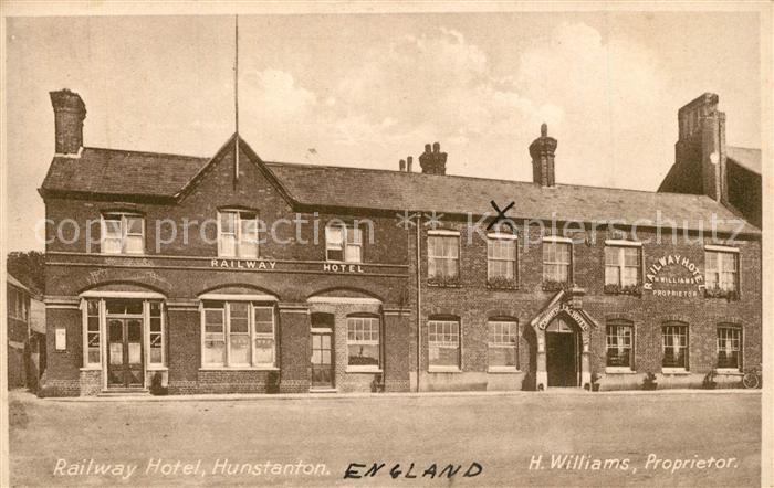 AK / Ansichtskarte Hunstanton Railway Hotel
