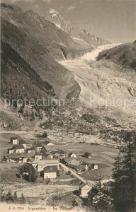 AK / Ansichtskarte Argentiere_Haute Savoie Le Village Argentiere Haute Savoie