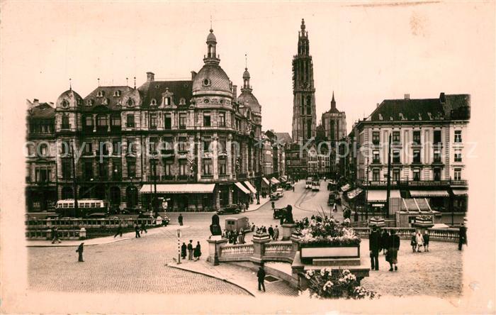 AK / Ansichtskarte Antwerpen_Anvers Stadtpanorama Antwerpen Anvers
