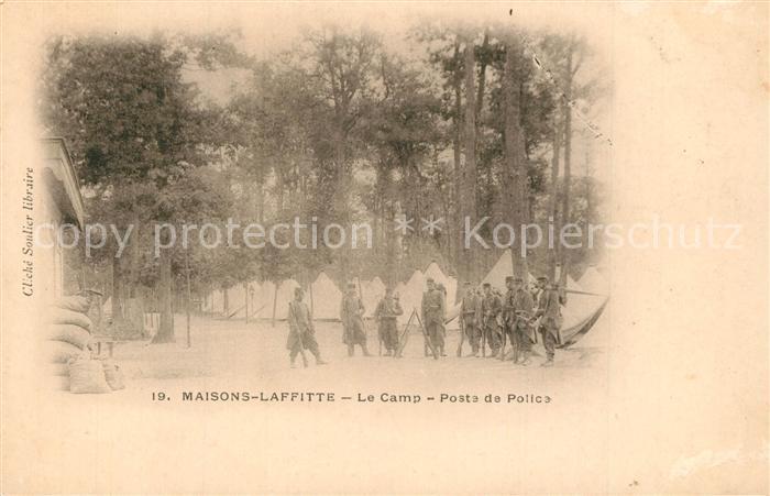 AK / Ansichtskarte Maisons Laffitte Le Camp Poste de Police Maisons Laffitte
