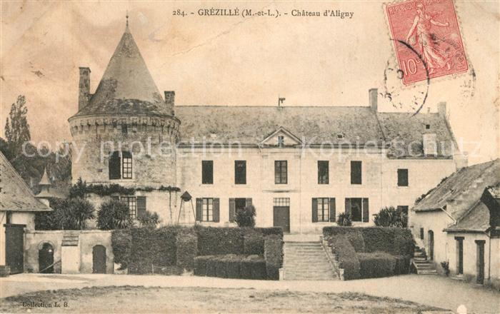 AK / Ansichtskarte Grezille Chateau d Aligny Grezille