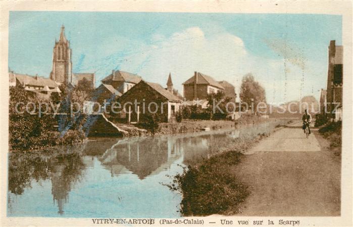 AK / Ansichtskarte Vitry en Artois Une vue sur la Scarpe Vitry en Artois