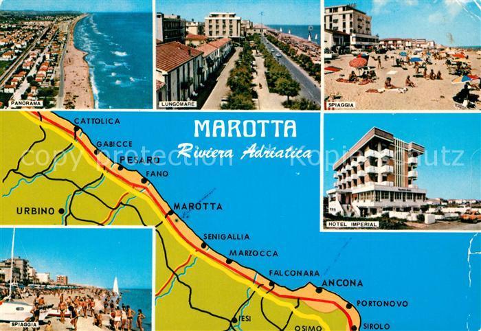 AK / Ansichtskarte Marotta Riviera Adriatica Panorama Lungomare Spiaggia Hotel Imperial Marotta