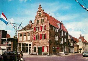 AK / Ansichtskarte Harlingen_Friesland Oude Gevel Blauwe Hand Giebelhaus Harlingen_Friesland