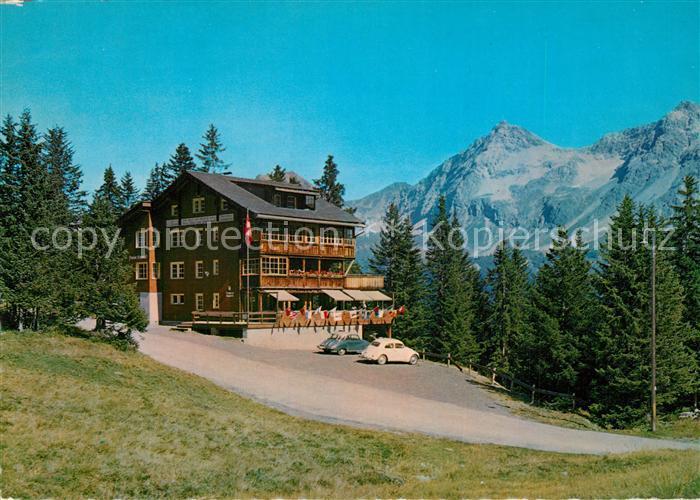 AK / Ansichtskarte Arosa_GR Pension Arlenwald und Restaurant Bure Stuebli Alpen Arosa_GR