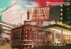 AK / Ansichtskarte Lodz Hotels Restaurants Lodz