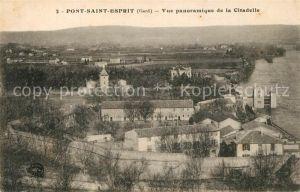 AK / Ansichtskarte Pont Saint Esprit Panorama Citadelle Pont Saint Esprit