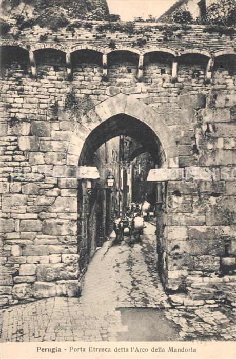 Perugia Porta Etrusca detta l`Arco della Mandorla Perugia