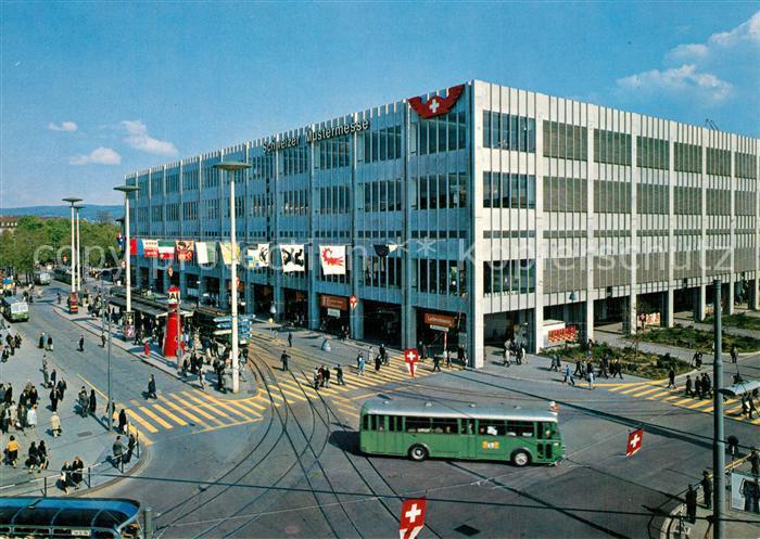 Basel_BS Schweizer Mustermesse Vorplatz mit Neubau und Front Riehenring Basel_BS