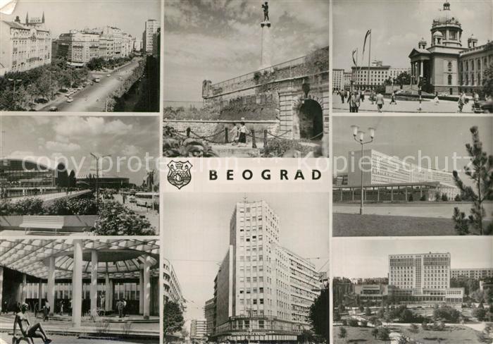 Beograd_Belgrad Teilansichten Sehenswuerdigkeiten Hochhaus Denkmal Beograd Belgrad