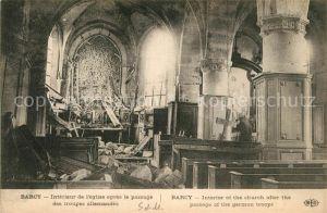 AK / Ansichtskarte Barcy Interieur de l Eglise Zerstoerung Krieg Barcy