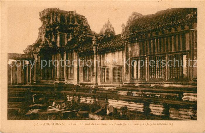 AK / Ansichtskarte Angkor_Kambodscha Pavillon Temple