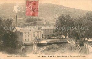 AK / Ansichtskarte Fontaine de Vaucluse Barrage de la Sorgue Fontaine de Vaucluse