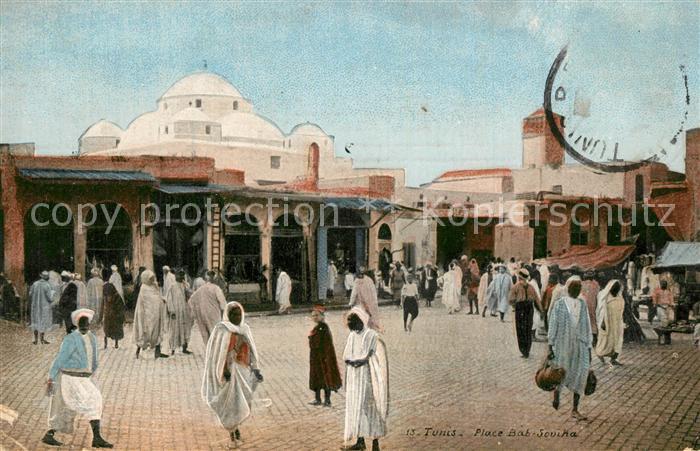 AK / Ansichtskarte Tunis Place Bab Souiha Tunis