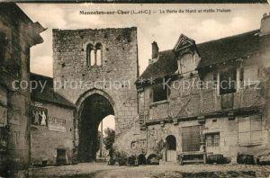 AK / Ansichtskarte Mennetou sur Cher Porte du Nord Vieille Maison Mennetou sur Cher
