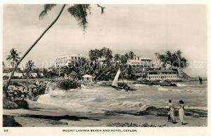 AK / Ansichtskarte Ceylon_Sri_Lanka Mount Lavinia Beach Hotel Ceylon_Sri_Lanka